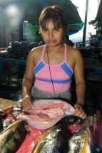 Iquitos Markt Fisch Verkäuferin