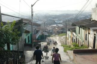 Iquitos Straße Fußgänger