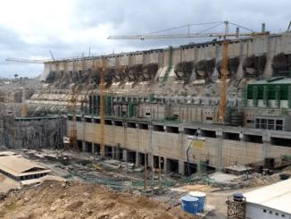 Staudamm Belo Monte Amazonas Brasilien